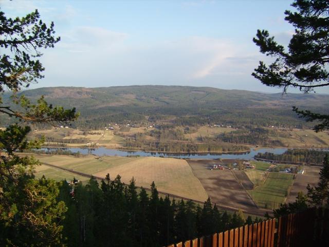 Från utsiktsplatsen vid toppstugan