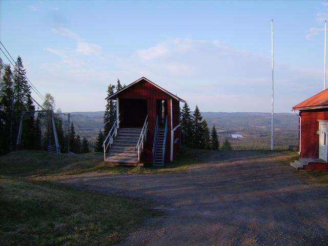 Starttornet vid slalombacken.